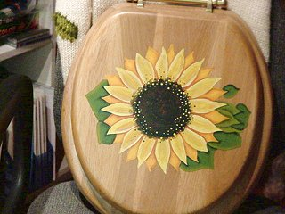 Folk Art Sunflower on a You-Know-What- Cover
