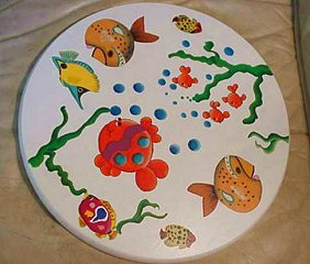 Tropical Fishes on Lazy Susan